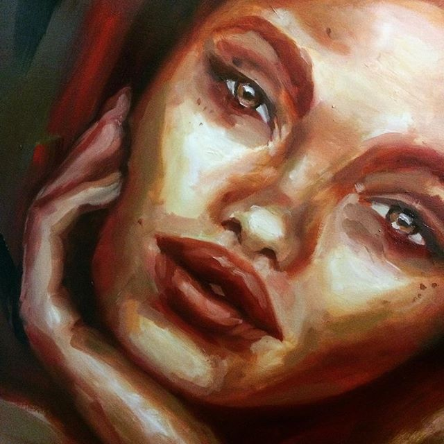 #wip #workinprogress #laceyjaneart #laceyjane #portrait #oil #painting #allaprima #loose #portraitpainting #contemporaryart #contemporarypainting #painting #artwork #detail #progress