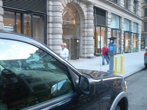 My car + door to Flatiron = Impossibly Good Parking Spot!