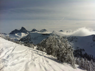 (that infamous Targhee view- looking at the Tetons)