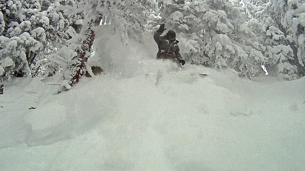me all up in it it off of the chutes of Mt Werner (photo cred. the giant)