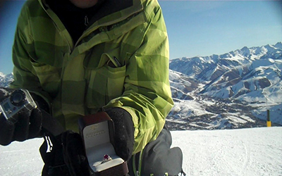 I GOT ENGAGED WITH MY SNOWBOARD ON