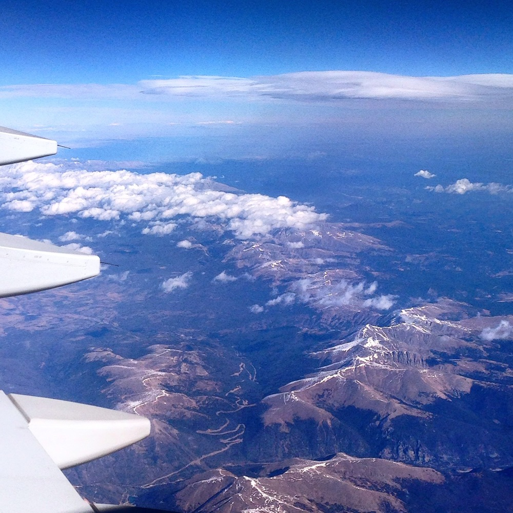 flying over CO this October