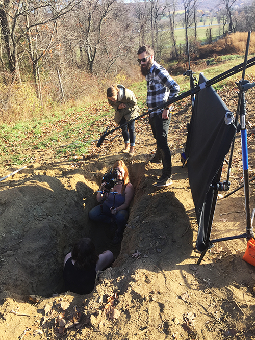 filming in the grave