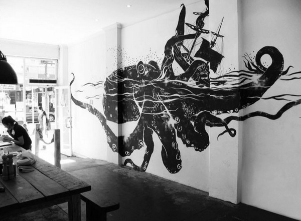 Black And White Wall Murals Office Concept Part 49