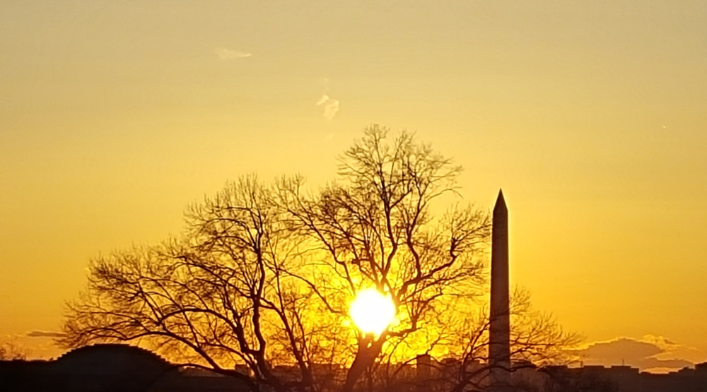 Sunset over the Washington Monument
