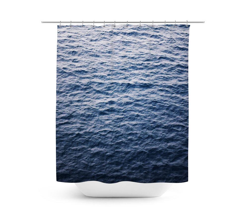 Under the sea peva shower curtain blue walmart com - Dark Sea Shower Curtain U2014 Nature City Co