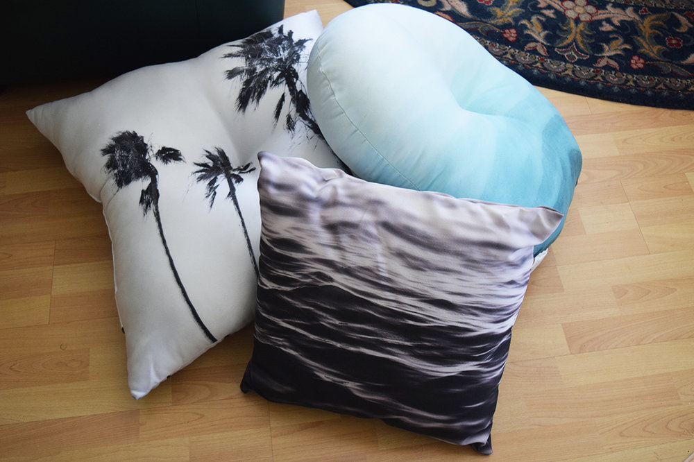 Three Floor Pillows