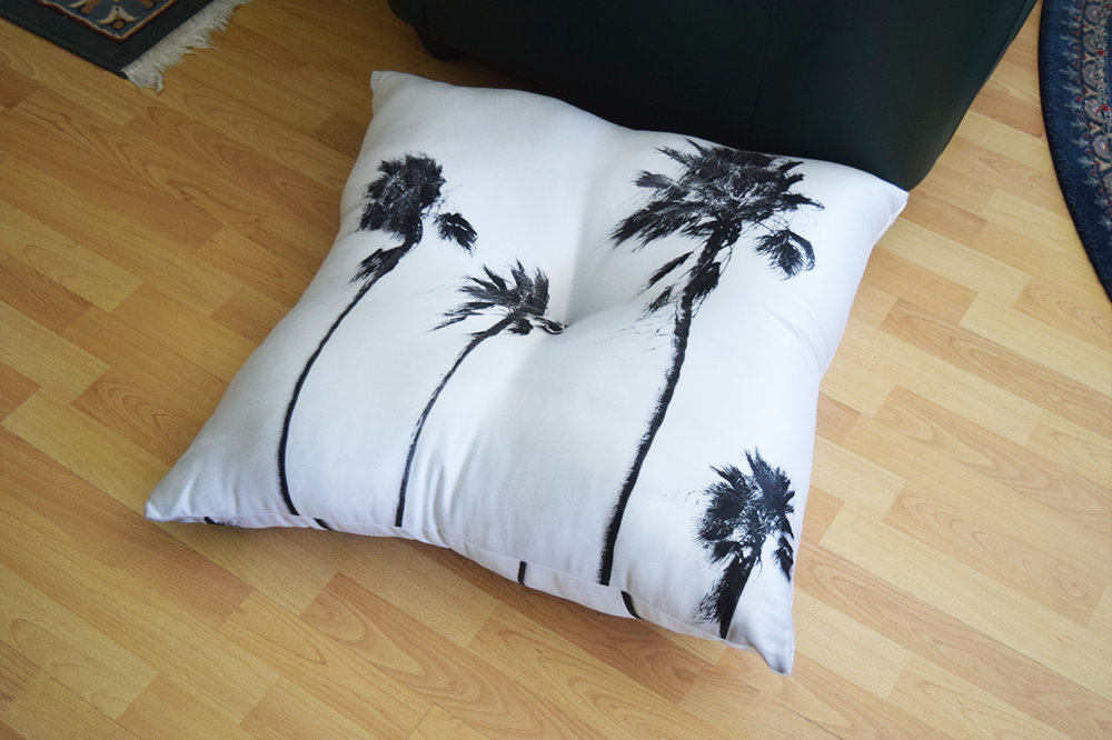 Black Palms Floor Pillow