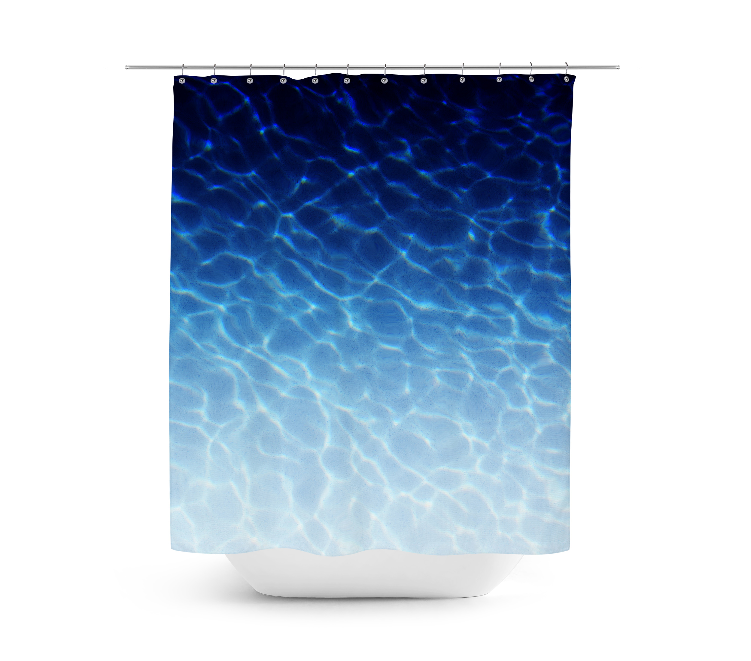 Marina Blue   Shower Curtain ...