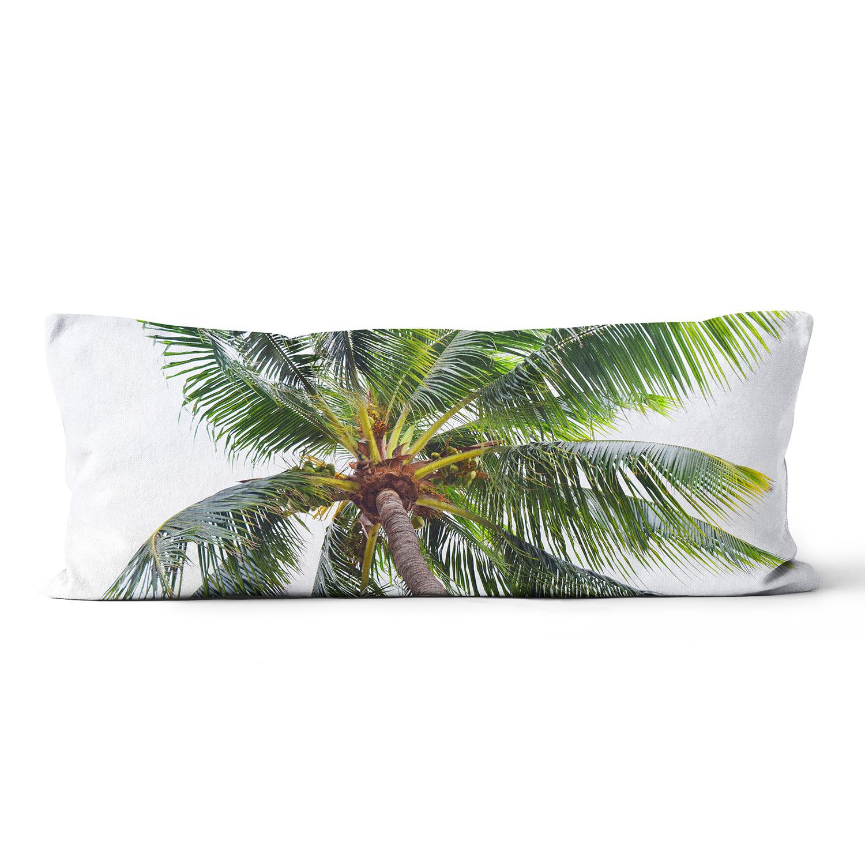 Caribbean Palm Body Pillow Beach Surf Decor By Nature City Co