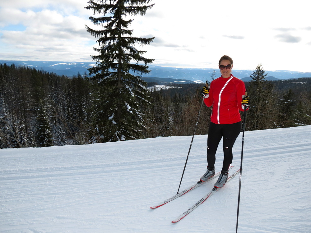 Cross-country skiing at Silver Star, Canada