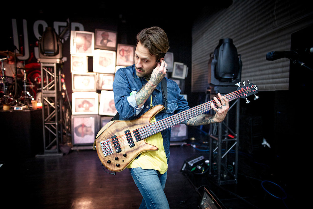 Jeph getting some sick tones out of his Aguilar pedals