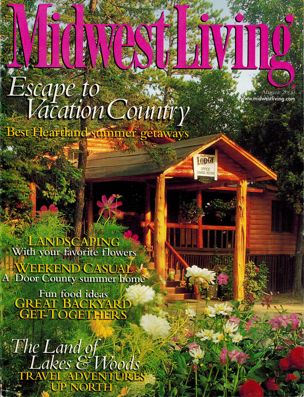 Midwest Living- August 2000- cover story