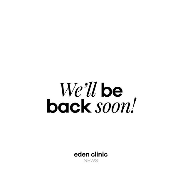 Hi All, I just wanted to update you on the status of Eden. We are currently closed due to my awaited hip repair. Please watch for our reopening announcement. Thank you for all the love and continued support. It means the world to me. Joanne ❣️ #edenclinic #coldlaser #getwellsoon #yyc #supportsmallbusiness