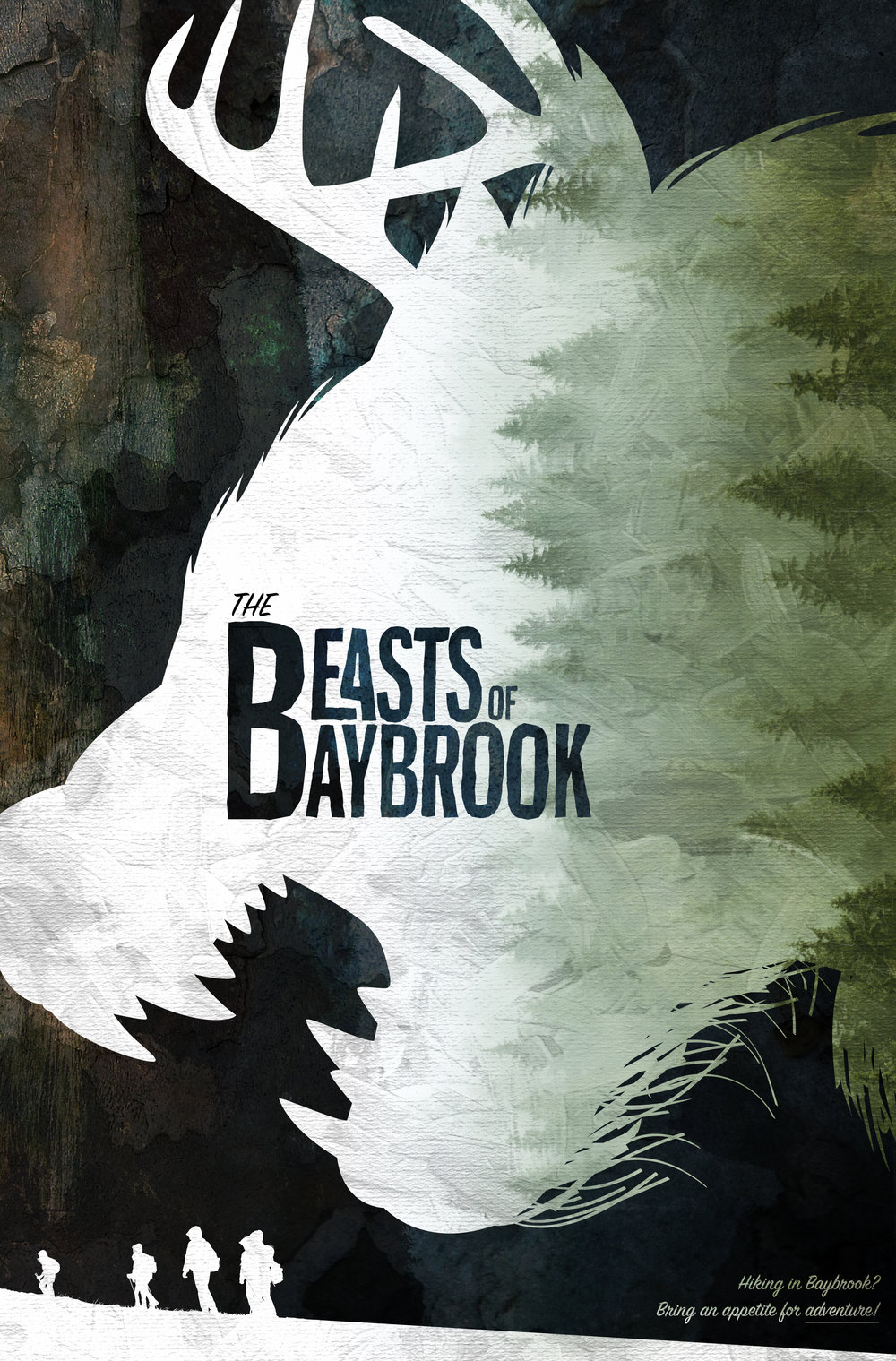 THE BEASTS OF BAYBROOK - FEATURE | ADVENTURE • HORRORLOGLINE: Shortly after moving to the sleepy town of Baybrook, Oregon, the Tambe family — on the brink of divorce — is rocked by trauma when their father and eldest son are attacked by the mysterious BEAST OF BAYBROOK; a rhino sized bear with antlers and a penchant for blood that was thought to be pure legend. In hopes of saving her brother and father, the curious new-kid in town TEAL TAMBE must put aside her troubled relationship with her mother and journey into the wilderness to slay the beast.