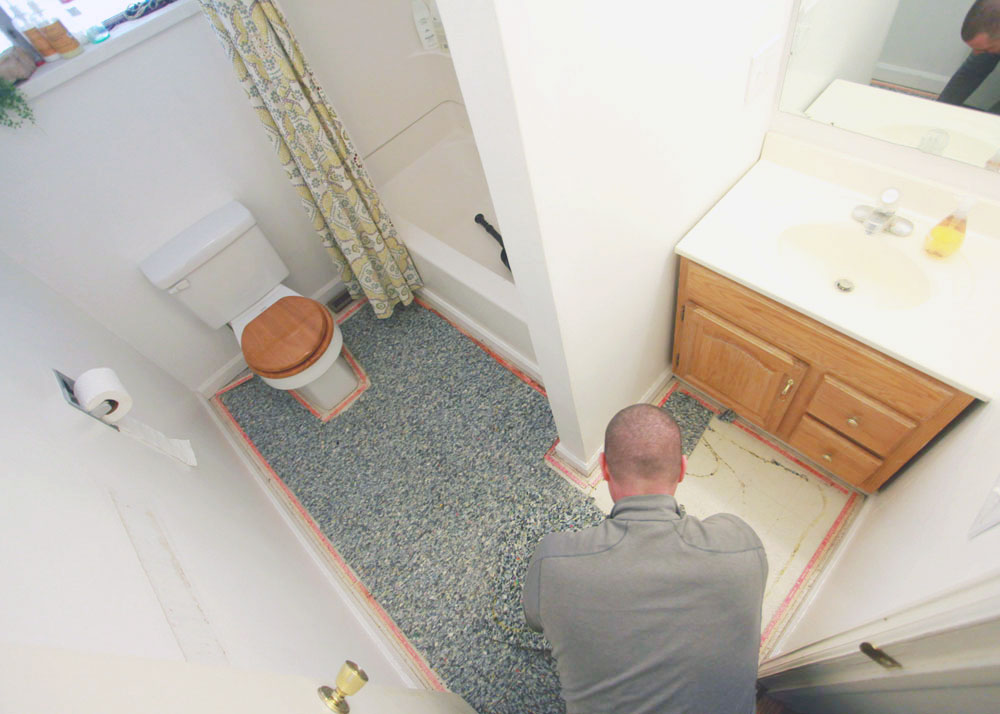 Elegant Bathroom Carpet