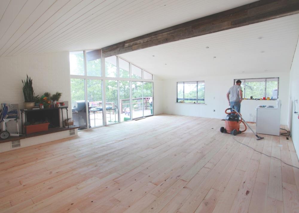 Relatively Happy Hardwood : Part I (Sanding & Staining) — Nesting Gypsy NF48