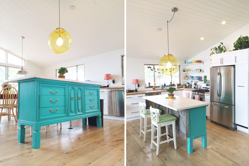 Transformed Vintage Dresser To Kitchen Island Nesting Gypsy