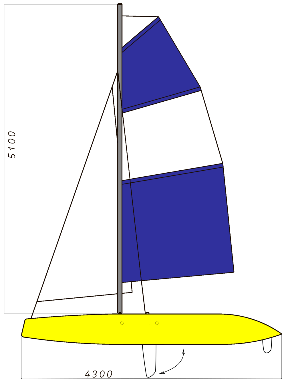 Vesikissa Meri DRIVE -  with a centreboard Better for advanced sailors