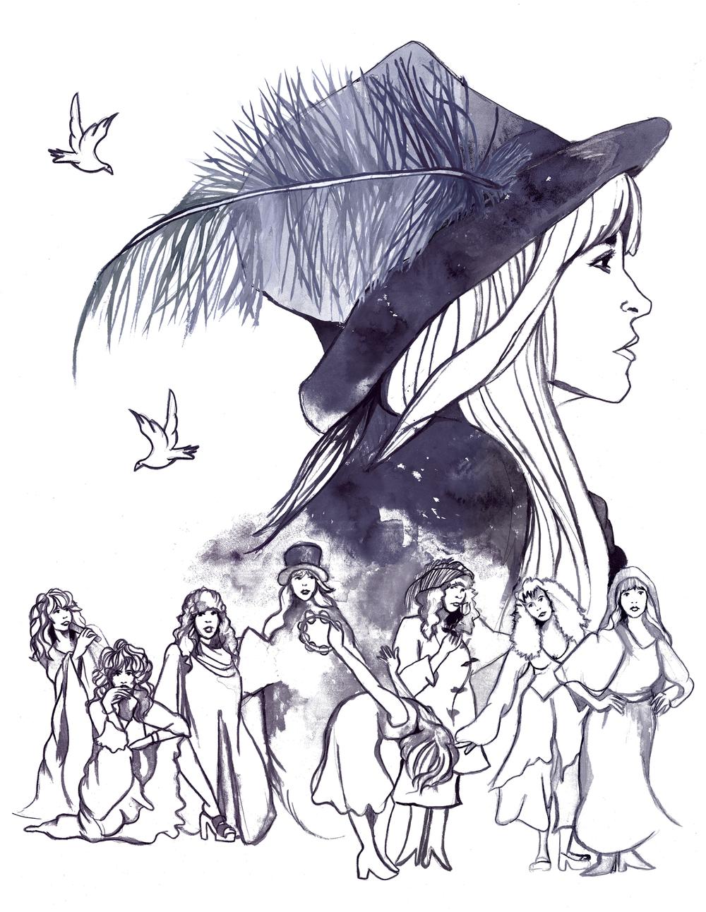 Stevie Nicks Illustration by Jess Rotter