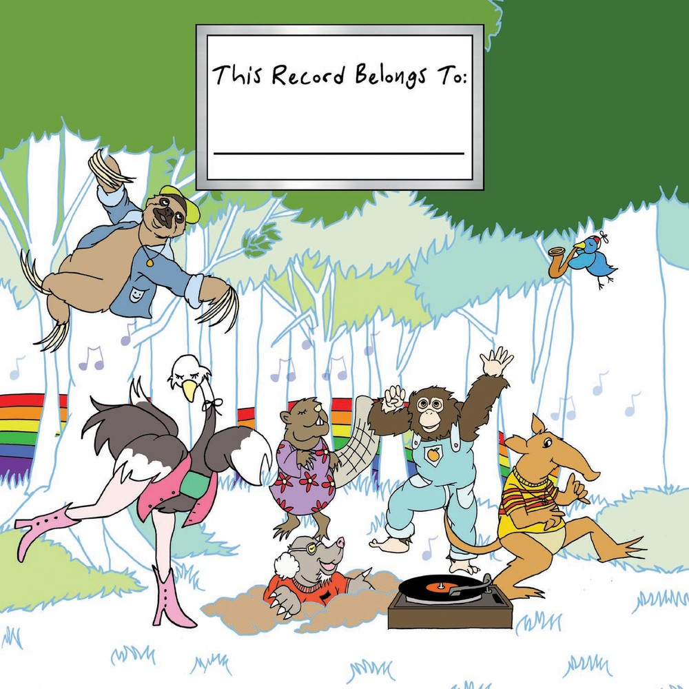 "Cover art by Jess Rotter for ""This Record Belongs To..."" children's album."