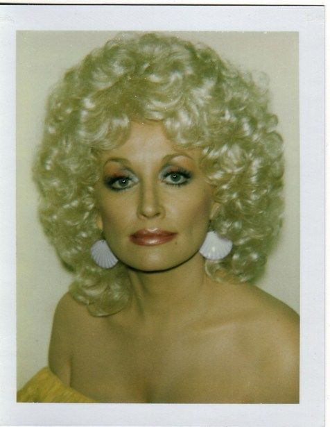 Polaroid portrait by Andy Warhol