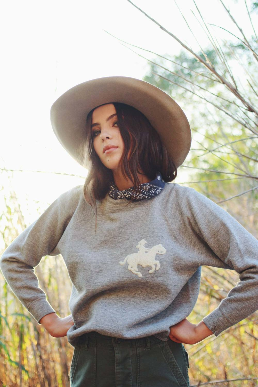 Bliss And Mischief - Cowgirl Chenille Sweatshirt