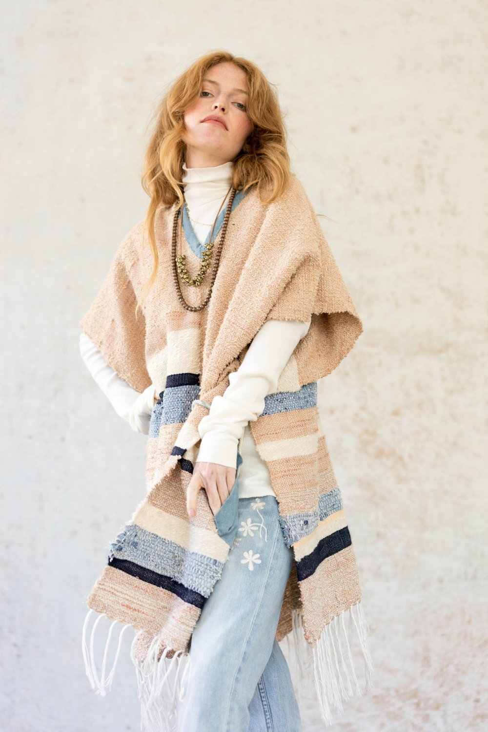Bliss And Mischief - Desert Landscape Poncho