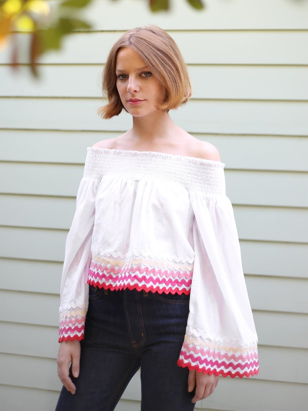 Bliss And Mischief - Bandana Peasant Blouse