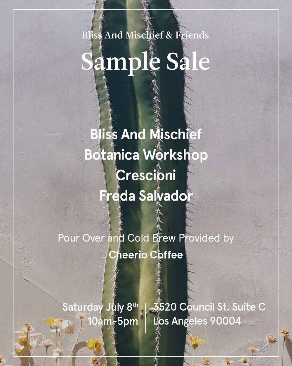 Bliss And Mischief Sample Sale