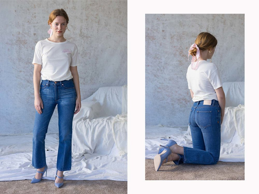 Bliss And Mischief-Cowboy Fit Denim and 'Kiss My Bliss' Tee