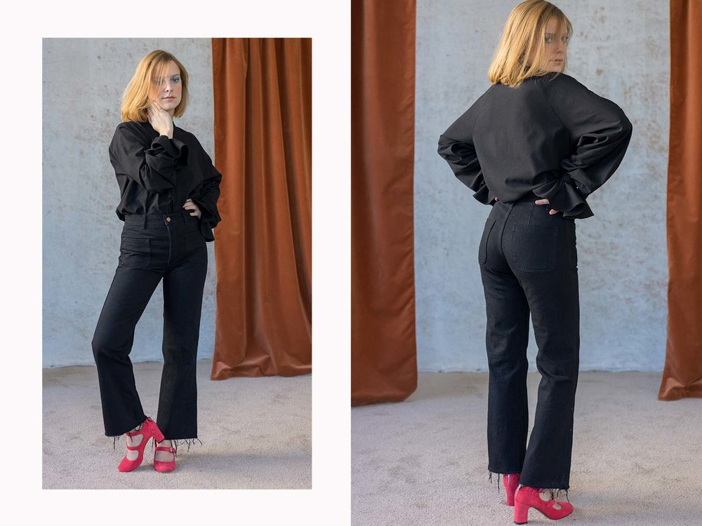 Bliss And Mischief-Black Sailor Pants