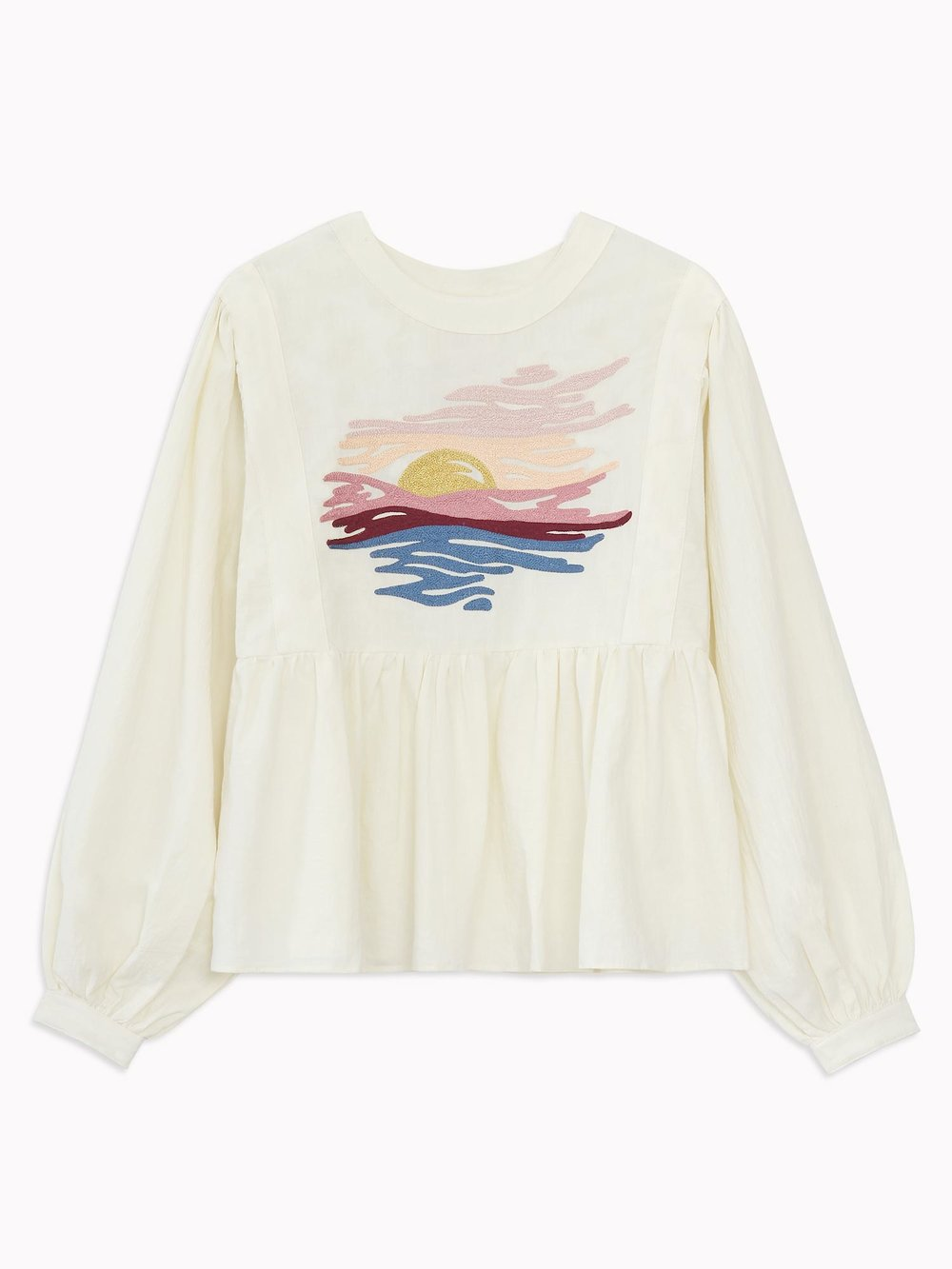 sunset Peasant Blouse in Ivory.jpg