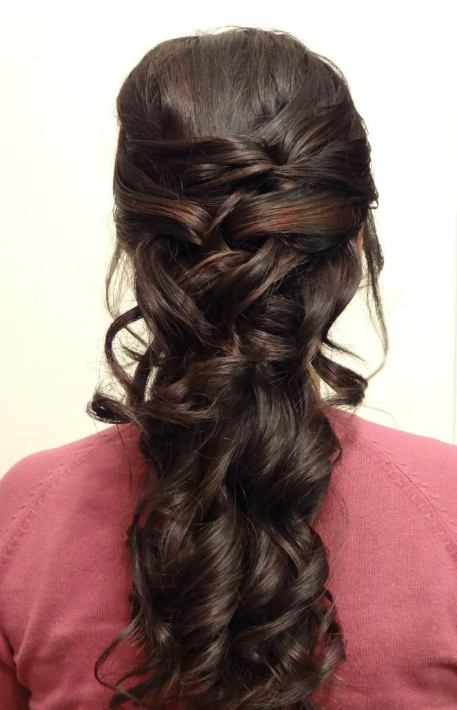 Bridal Hair Half Up Styling by Beyond Beautiful by Heather, Savannah, GA