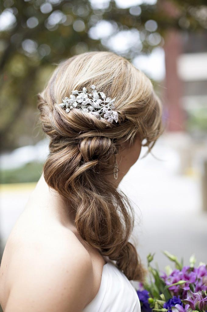 Bridal Half Updo by Beyond Beautiful by Heather, Savannah, GA