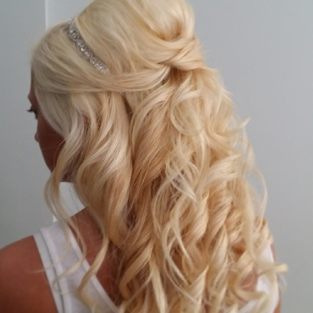 Half up half down bridal updo by Beyond Beautiful by Heather, Savannah, GA