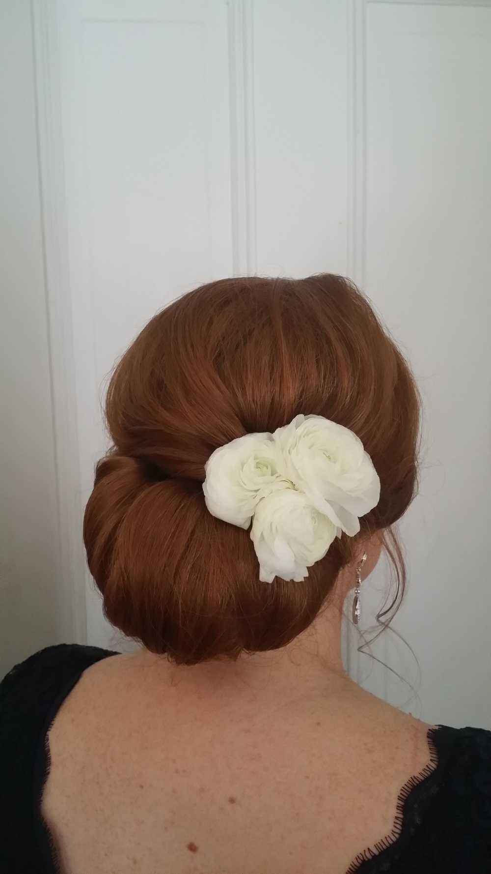 Vintage updo by Beyond Beautiful by Heather, Savannah, GA