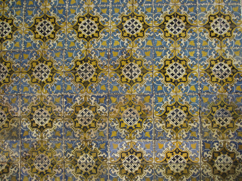 Tile work in Trujillo, the largest city in Northern Peru.