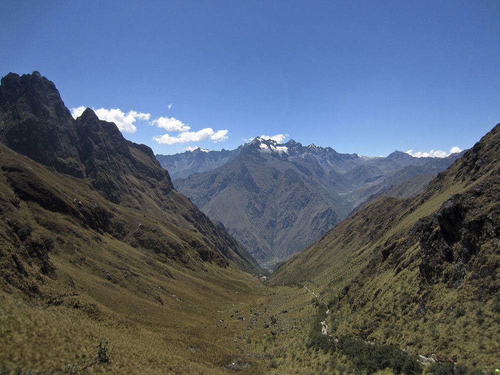 Inca Trail Day 2 | The view from Dead Woman's Pass, elevation 13,800 feet.