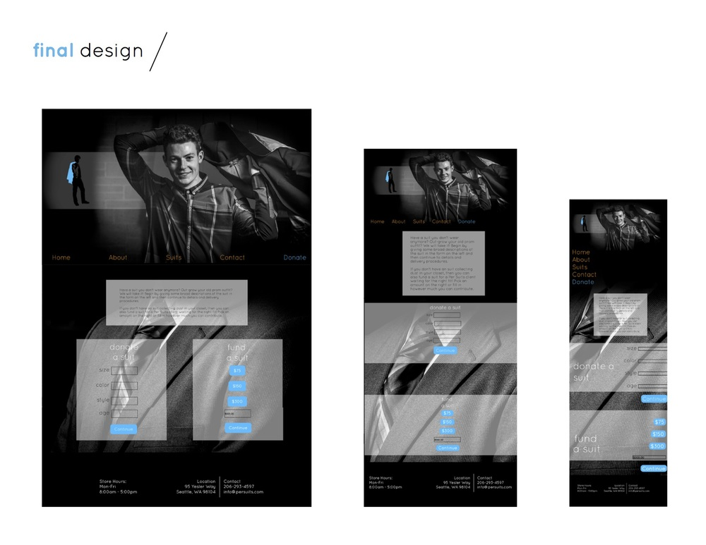 Donate page final design + viewports