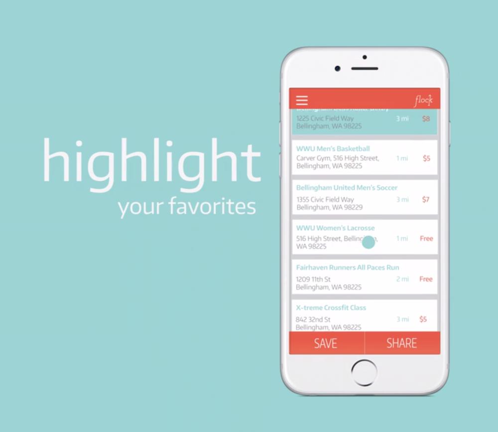 Flock Mobile App Design