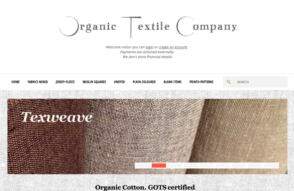 The Organic Textile Company - A good variety of organic cellulose fibres from transparent sources.
