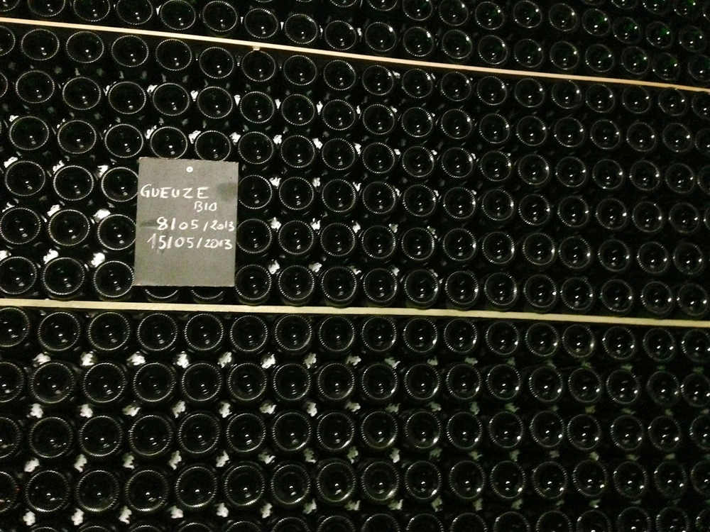 Bottles of Gueuze at Cantillon in Brussels.