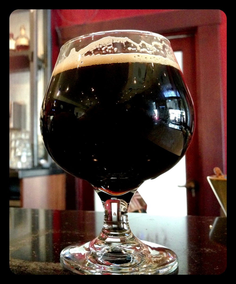 Fifty Fifty Brewing's  legendary  barrel aged Eclipse  imperial stout at the brew pub in Truckee, CA.