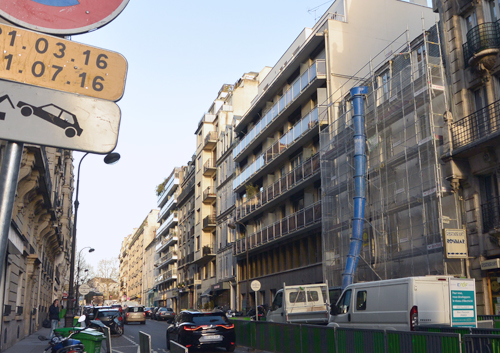 04 2016: structural work begins on Rue Poussin apartments in Paris