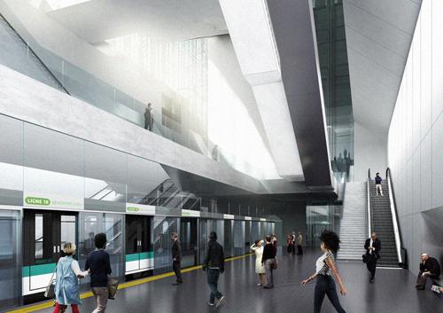 06 2016: proposition pour la station de métro Massy-Palaiseau publiée sur Beta Architecture
