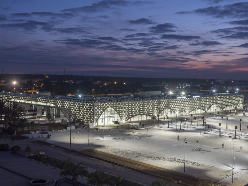 Chantier de la gare TGV Kénitra, Maroc.