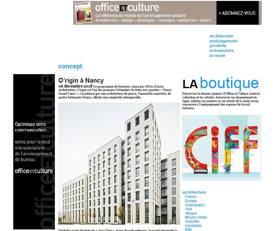 Office ET Culture | December   O'rigin, Nancy