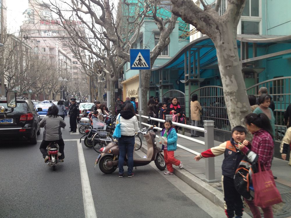 If you come across a Chinese school during midday where the parents pick up their kids... Turn around and remember not to take this road at this time again. Ever. Biggest chaos you can imagine
