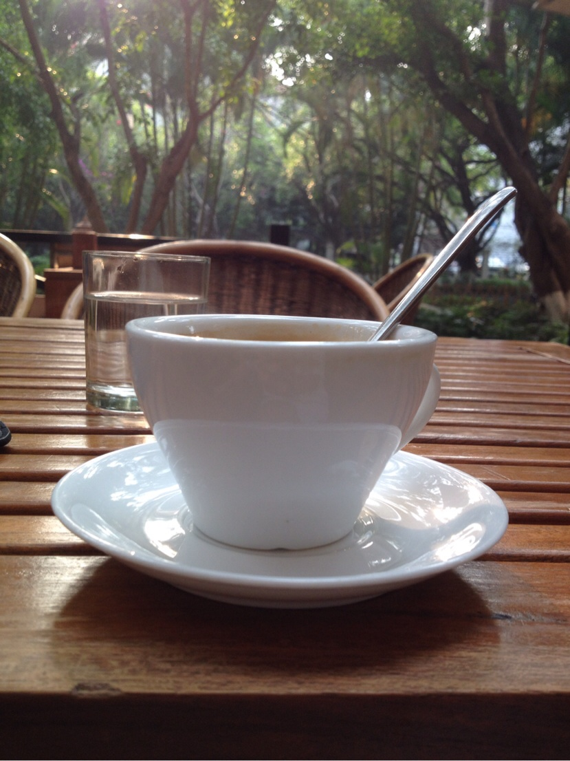 Yunnan coffee at the renowned Mei Mei cafe in Jinghong